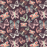 Seamless vector pattern with butterflies Royalty Free Stock Photography