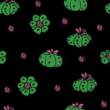 Seamless vector pattern with cactus peyote. For textile, ceramics, fabric, print, cards, wrapping Stock Photography