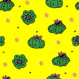 Seamless vector pattern with cactus peyote. For textile, ceramics, fabric, print, cards, wrapping Royalty Free Stock Photo