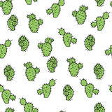 Seamless vector pattern with cactus prickly pear. For textile, ceramics, fabric, print, cards, wrapping Royalty Free Stock Photography