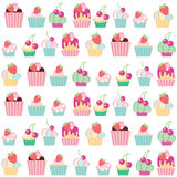 Seamless  pattern cakes Stock Photos