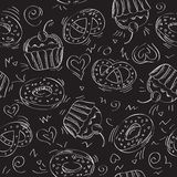 Seamless vector pattern cakes Stock Image