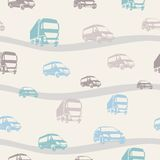 Seamless vector pattern with cars Royalty Free Stock Images