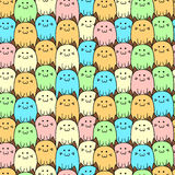 Seamless vector pattern with cats Stock Photography