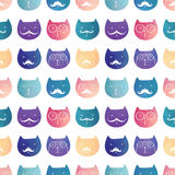 Seamless vector pattern. Cats Royalty Free Stock Images