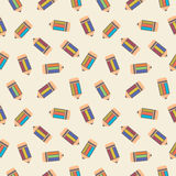 Seamless vector pattern, chaotic light background with pencils Stock Photography