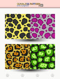 Seamless vector pattern of cheetah and jaguar for backgrounds and wraps Stock Images