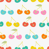 Seamless vector pattern with cherries Stock Photography