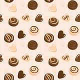 Seamless vector pattern with chocolate Stock Image