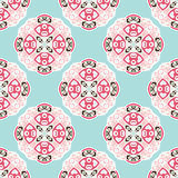 Seamless Vector Pattern circles abstract ornament Royalty Free Stock Photography