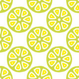 Seamless vector pattern with citrus fruit cuts Stock Image