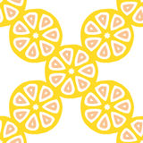 Seamless vector pattern with citrus fruit cuts Royalty Free Stock Photography