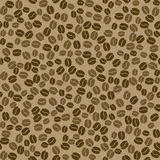 Seamless vector pattern with coffee beans. Royalty Free Stock Photos