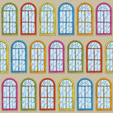 Seamless Vector Pattern with Color Windows Royalty Free Stock Images