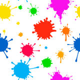 Seamless Vector pattern    of colored blots on Stock Images