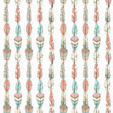 Seamless vector pattern with colored feathers Stock Photos