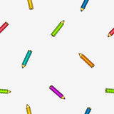 Seamless vector pattern of colored pencils Royalty Free Stock Images