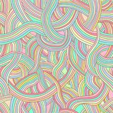 Seamless vector pattern of colored strips of smooth, fairy rainb Royalty Free Stock Image