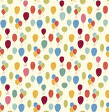 Seamless vector pattern with colorful balloons Stock Image