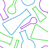 Seamless vector pattern of colorful beakers Stock Photography