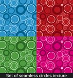 Seamless vector pattern with colorful circles Royalty Free Stock Image