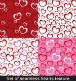 Seamless vector pattern with colorful hearts. Texture of Valentine day. Abstract set, collection Vector Illustration