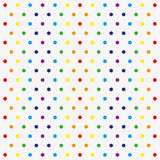 Seamless vector pattern with colorful polka dots Stock Image