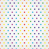 Seamless vector pattern with colorful polka dots Royalty Free Stock Photo