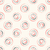 Seamless vector pattern with concentric circles Stock Photography