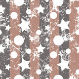 Seamless vector pattern. Creative geometric beige background with stars and circles. Stock Image