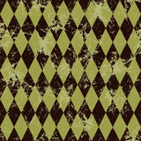 Seamless vector pattern. Creative geometric brown background with rhombus. Royalty Free Stock Photo