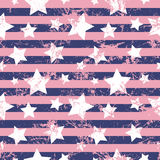 Seamless vector pattern. Creative geometric violet background with stars and stripes Royalty Free Stock Photography