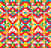 Seamless vector pattern - cross-stitch style Royalty Free Stock Photography