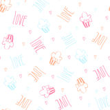Seamless vector pattern with cupcakes. Stock Photos