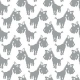 Seamless vector pattern with cute cartoon horses Royalty Free Stock Photos