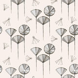 Seamless vector pattern with dandelions. Abstract print for textile, wrapping paper Royalty Free Stock Photos