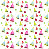 Seamless vector pattern decoration party Royalty Free Stock Photo
