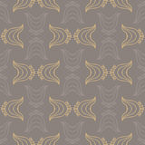 Vintage pattern with organic shapes Royalty Free Stock Image
