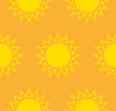 Seamless vector pattern with decorative sun. Shrovetide Royalty Free Stock Images