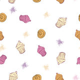 Seamless vector pattern of deserts Royalty Free Stock Photo