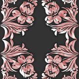 SEAMLESS VECTOR PATTERN DESIGN BACKGROUND 3D EFFECT. Seamless 3D pattern, natural floral pattern, . Endless texture can be used for wallpaper, pattern fills, web Stock Photos