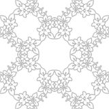 SEAMLESS VECTOR PATTERN DESIGN BACKGROUND 3D EFFECT. Seamless texture. Figure 3D - the structure of the atom Stock Image
