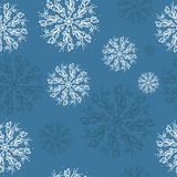 Seamless vector pattern with detailed snowflakes. Nice vector background, perfect for wallpaper, wrapping paper or textile. Seamless vector pattern with vector illustration