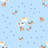 The seamless vector pattern with dogs. The vector picture. EPS 8 Stock Photography