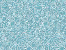 Seamless vector pattern with Doodle flowers and leaves. Stock Image