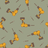 Seamless Vector Pattern with Drills Stock Images
