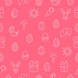 Seamless vector pattern of Easter icons Royalty Free Stock Photography