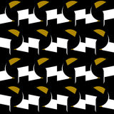 Seamless vector pattern with elegant toucan at night Royalty Free Stock Photo