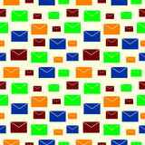 Seamless vector pattern with elements of colorful envelopes Stock Photography