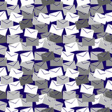 Seamless vector pattern with elements of envelopes. Seamless vector pattern. Background with elements of envelopes grey and white color Stock Image
